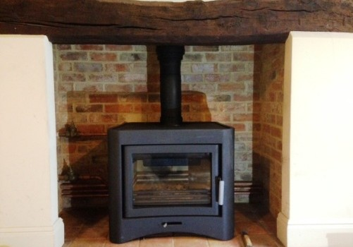 26kW Log Stove Installation