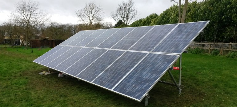 Ground-mounted 4kW Solar Panels, Wiburton