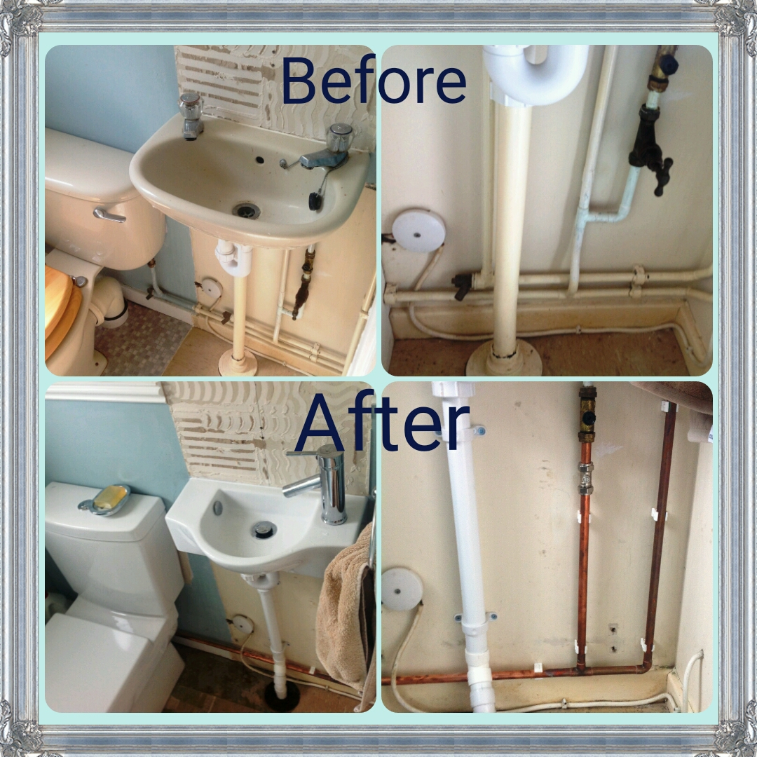Before-and-after-Bathroom-install-Eco-Installer